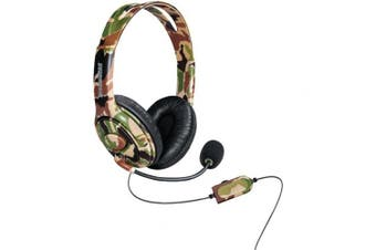 dreamGEAR DGXB1-6618 Xbox One Wired Headset with Microphone, Camo
