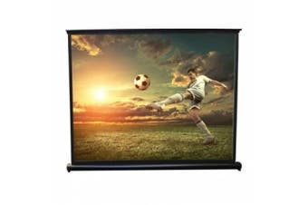 Pyle 130cm Projector Viewing Display Screen, Manual Retractable Pull-Out Style - 100cm x 80cm