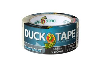 Duck Tape Transparent Tape, Clear, 4.8cm x 20 yd