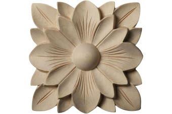 """(Single, 5""""W x 5""""H x 3/4""""P, Rubberwood) - Ekena Millwork ROS05X05SPRW Springtime Rosette, 13cm x 13cm x 1.9cm , Rubberwood"""