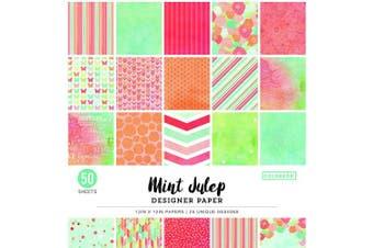 (30cm  x 30cm , Mint Julip) - Colorbok 31kg Designer Single-Sided Paper 30cm x 30cm 50/Pkg