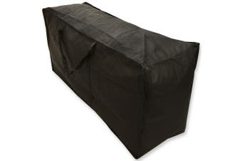 Woodside Waterproof Garden Furniture Cushion Storage Bag Black Heavy Duty