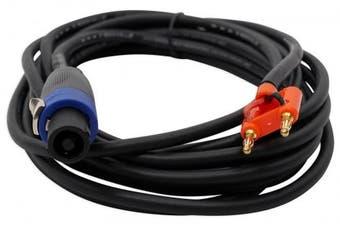 Rockville RSB16 6.1m Speakon to Banana Speaker Cable, 16 Gauge, 100% Copper!