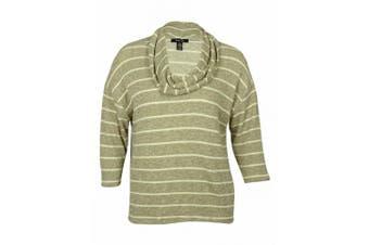 (0x, plus) - Style & Co Women's Striped Cowl Neck Sweater