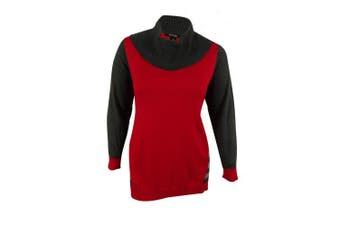 (newredamorecombo, 1x, plus) - Style & Co. Women's Stripe Hem Cowl Neck Sweater