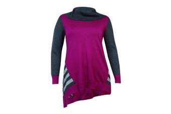 (passionflowercombo, l, regular) - Style & Co Women's Handkeircheif Hemmed Sweater