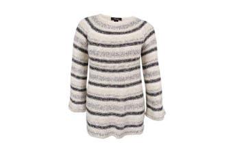 (1x, plus) - Style & Co. Women's Plus Size Metallic Striped Sweater