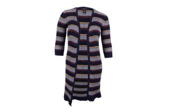 (2x, plus) - Style & Co. Women's. Plus Size Striped Open-Front Duster Cardigan