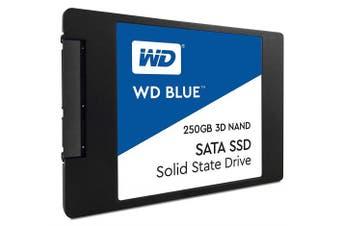 (250 GB, 2.5 Inch SATA) - Western Digital WDS250G2B0A WD Blue 3D NAND Internal SSD 6.4cm SATA, 250 GB - Black