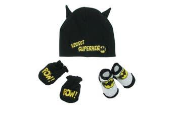 (onesize) - DC Comics Baby Boys Batman Hat Socks Mitten Set