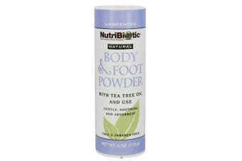 Nutribiotic - Natural Body & Foot Powder Unscented - 120ml