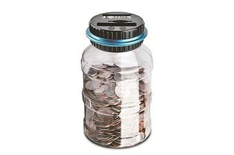 Digital UK Coins Automatic Counting Money Box Jar LCD Display Transparent Large Capacity Gift for Kids