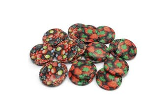 """(20 Pieces - Fruit Mix 3 to 66 Mm) - COM-FOUR 20x Replacement Lid""""Fruit Lid for Jam Jars, Glass Jars, 66 mm (0020 Pieces - to 66 mm Fruit Mix 3)"""