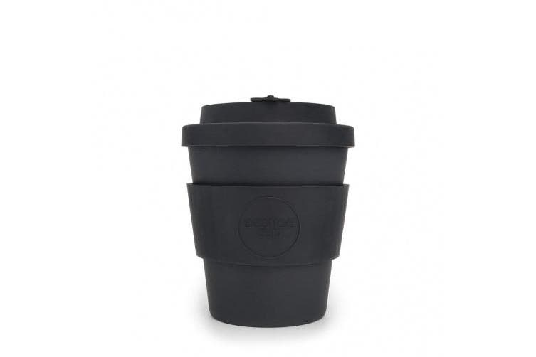 Ecoffee Cup: Kerr & Napier with Black Silicone 240ml, Reusable and Eco Friendly Takeaway Coffee Cup