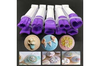 (10 set Food grade plastic) - Flower Type Lace Clip 10pcs/Set Food Grade Plastic Cookie Stamp Mould Cake Cupcake Fondant Decorating Tool (10 Set Food Grade Plastic)
