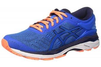 (9.5 UK, Blue (Directoire Blue/Peacoat/Hot Orange)) - Asics Men's Gel-Kayano 24 Running Shoes