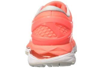 (4 UK, Orange (Flash Coral/Black/White)) - ASICS Women's Gel-Kayano 24 Running Shoes