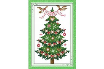 (STAMPED) - CaptainCrafts New Cross Stitch Kits Patterns Embroidery Kit - Christmas Tree (STAMPED)