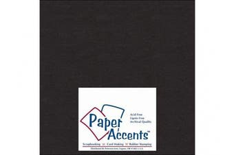 Accent Design Paper Accents ADP808-25.127CB 1X Heavy 50 Point 20cm x 20cm Black Chipboard Card Stock