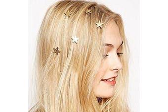 Coobbar 20PCS Twist wedding Small Mini Metal Gold Colour Star Hairpins Women Girl Swirl Hair Pins
