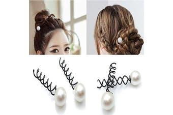 Coobbar 10 pcs Black Metal Twist Hair Pin Grips Spirals Bobby Hair Pins for Women