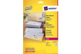 Avery Mini Laser Labels 38x21mm L7651-25 (1625 Labels) Ac New