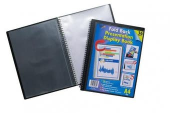 *offer* Easel A4 Twin Wire Fold Back Standing Black Display Book Folder Folios
