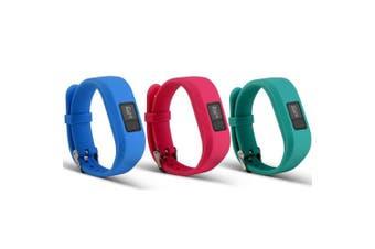 (Style A:3Pcs,004) - Band For Garmin Vivofit 3 and Garmin Vivofit JR,12 Colour Styles Fitness Silicon Bracelet Strap Replacement Bands for Garmin Vivofit 3 and Vivofit JR(No Tracker)
