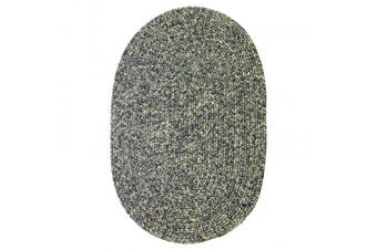 (0.6m by 1.2m, Graphite) - Sabrina Tweed Indoor/Outdoor Oval Braided Rug, 0.6m by 1.2m, Graphite