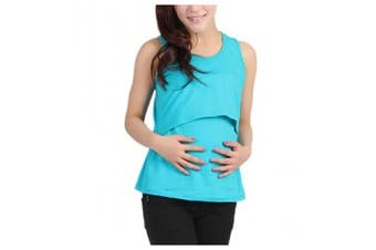 Maternity Breastfeeding Shirt, Inkach Pregnant Maternity Clothes Nursing Tops Breastfeeding Vest Casual T-Shirt (D)