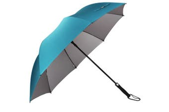 (Sky Blue) - G4Free Automatic Open Golf Umbrella Extra Large 160cm Windproof Sun Protection Oversize Waterproof Stick Umbrellas for Men Women