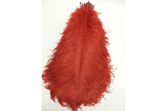 (red) - ADAMAI 10PCS Natural 30cm - 35cm Ostrich Feathers Plume for Wedding Centrepieces Home Decoration (red)