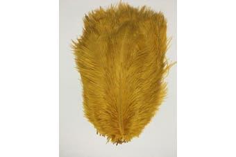 (gold) - ADAMAI 50PCS Natural 25cm - 30cm Ostrich Feathers Plume for Wedding Centrepieces Home Decoration (gold)