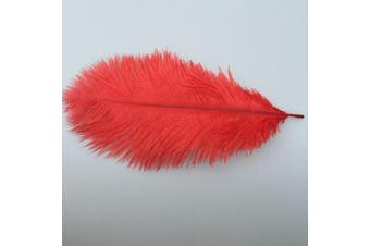 (red) - ADAMAI 50PCS Natural 20cm - 25cm Ostrich Feathers Plume for Wedding Centrepieces Home Decoration (red)