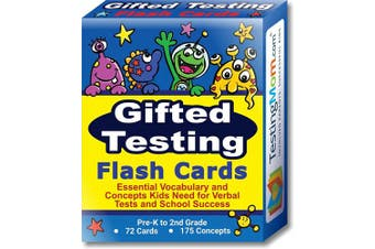 Gifted Testing Flash Cards for CogAT test, OLSAT test, ITBS test, NYC Gifted and Talented, WISC, ERB, WPPSI, AABL and more! Practise concepts and vocabulary for Pre-K – 2nd Grade. By TestingMom.com