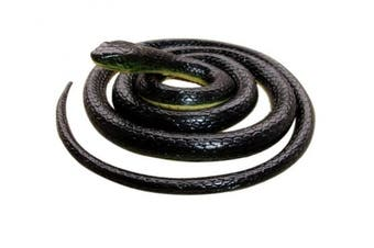 Realistic Rubber Black Mamba Snake 130cm Long,Scare Toy, by Brandon-super