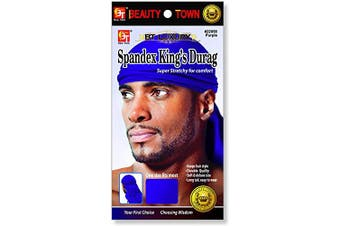 (Purple) - Luxury King's Durag - Purple, Polyester,, spandex
