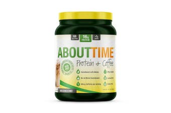 (Coffee(Mochaccino)) - About Time Whey Isolate Protein Plus, Non-GMO, All Natural, Lactose/Gluten Free, 16g of Protein per Serving (Coffee Mochaccino) -1.5 pounds)