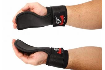 Hand Grips with Wrist Support for Power Lifting Fitness Gym Crossfit - Workout Gloves Alternative by Armageddon Sports