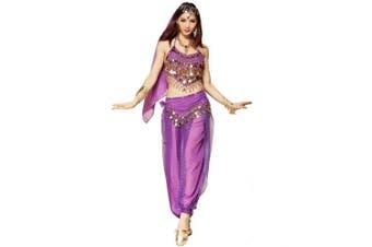 (3Pcs Set, Purple) - Best Dance Women Belly Dance Costume Set Purple