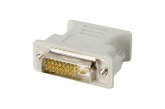 (DVI-D to VGA) - adaptare DVI-D Male to VGA Female (24 + 1 Pin Male/15-Pin Female)