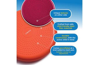 (Green) - bintiva Inflated Stability Wobble Cushion, Including Free Pump/Exercise Fitness Core Balance Disc