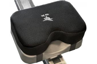 Rowing Machine Seat Cushion (MODEL B) that perfectly fits Concept 2 with THICKER Memory Foam, Washable Cover, and Straps- Also works great with Exercise Recumbent stationery Bike