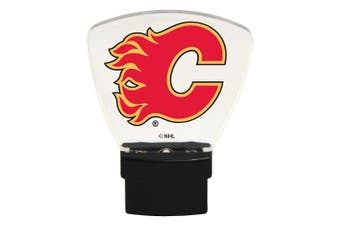 (Calgary Flames) - Authentic Street Signs NHL Officially Licenced-LED NIGHT LIGHT-Super Energy Efficient-Prime Power Saving 0.5 watt, Plug In-Great Sports Fan gift for Adults-Babies-Kids Room …