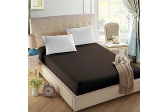 (Queen, Dark Brown) - 4U Life Bedding Fitted sheet-Prime 1800 Series , Double Brushed Microfiber,Ultra-soft Feel And Wrinkle,Fade Free , Deep Pocket For Oversized Mattress, Queen, Dark Brown