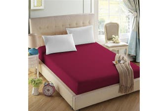 (California King, Cardinal Red) - 4U Life Bedding Fitted sheet-Prime 1800 Series , Double Brushed Microfiber,Ultra-soft Feel And Wrinkle,Fade Free , Deep Pocket For Oversized Mattress (Cal-King, Cardinal Red)