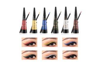 (6 PCS) - Coosa Glitter Colourful Liquid Eyeliner [6Colors] Long Lasting Waterproof Eyeliner Shimmer Pigment Glitter Eyeliner - 6PCS