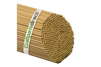 (Bag of 100) - Wooden Dowel Rods - 0.6cm x 90cm Unfinished Hardwood Sticks - For Crafts and DIY'ers - Craftparts Direct - Bag of 100