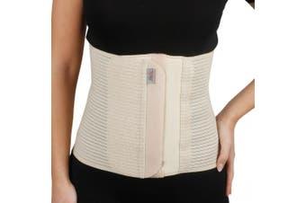 (L, Beige) - Armo Line Abdominal Binder Post Pregnancy Belly Wrap Postpartum Post-op Support (L, Beige)