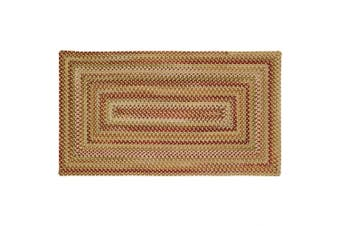 (0.3m x 0.6m, Gold Hues) - Manchester Gold Hues Multi Rug Rug Size: Concentric 50cm x 80cm